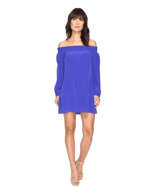 Nicole Miller - Blue La Plage By Rocky Off Shoulder Dress Cover-up - Lyst