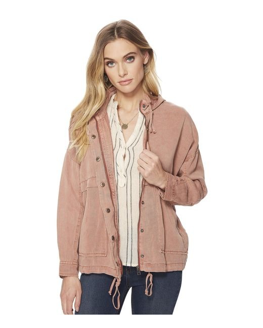 Lucky Brand - Multicolor Blush Hooded Jacket - Lyst