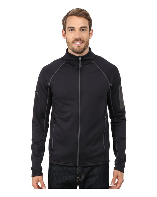 Marmot - Black Stretch Fleece Jacket for Men - Lyst