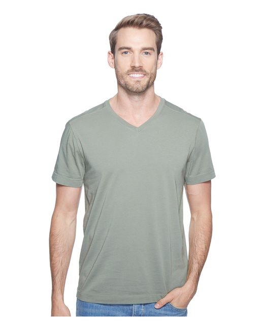 Agave - Green Agave Supima Vee Neck Short Sleeve Tee for Men - Lyst