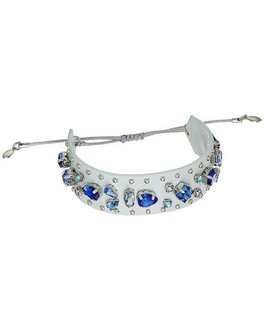 Rebecca Minkoff - Blue Jeweled Guitar Strap Bracelet - Lyst