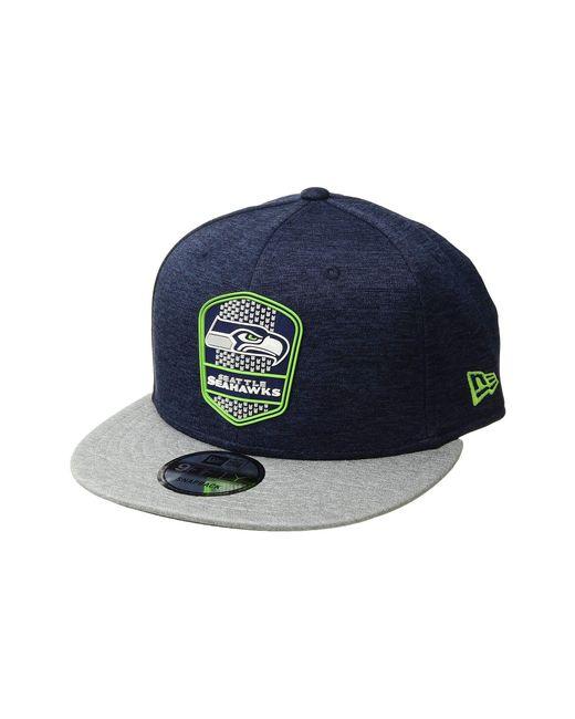 81f7f55d13b KTZ - Blue 9fifty Official Sideline Away Snapback - Seattle Seahawks for Men  - Lyst ...