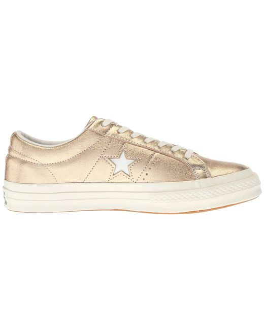 d5884885409 Lyst - Converse One Star Ox Shoes (trainers) in Metallic - Save 22%