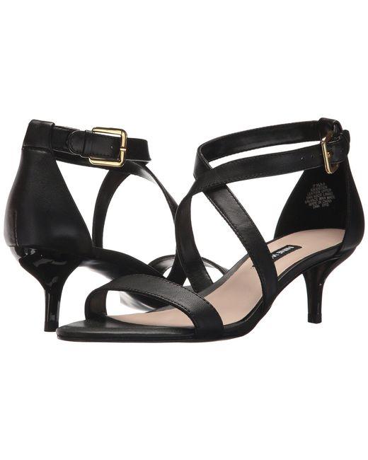 Nine West - Black Xaeden Strappy Heel Sandal - Lyst