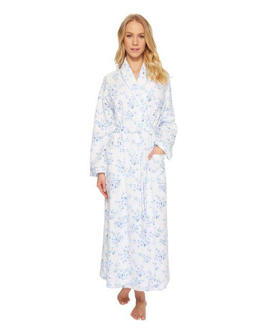 Carole Hochman - Blue Double Diamond Quilt Long Robe - Lyst