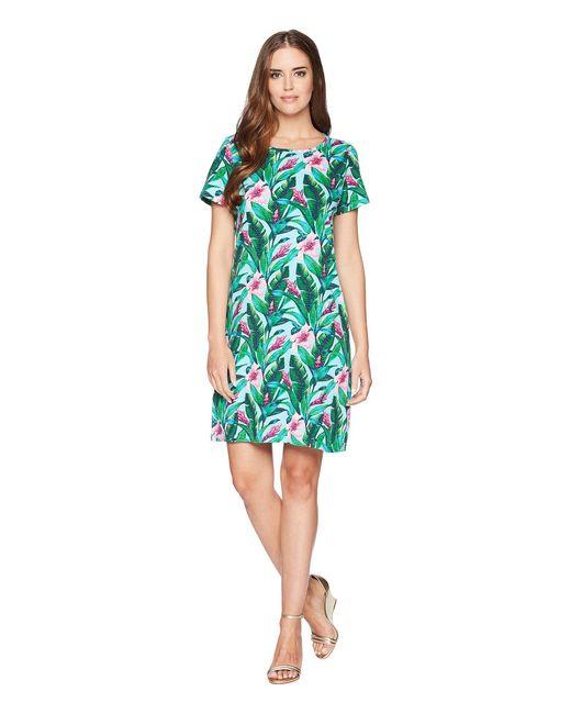 Tommy Bahama - Blue Tulum Blooms Short Sleeve T-shirt Dress - Lyst