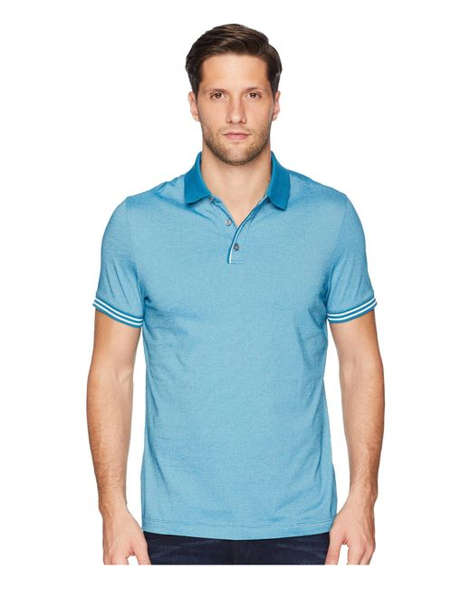 eee3957e39 Lyst - Perry Ellis Essential End On End Polo in Blue for Men - Save 20%