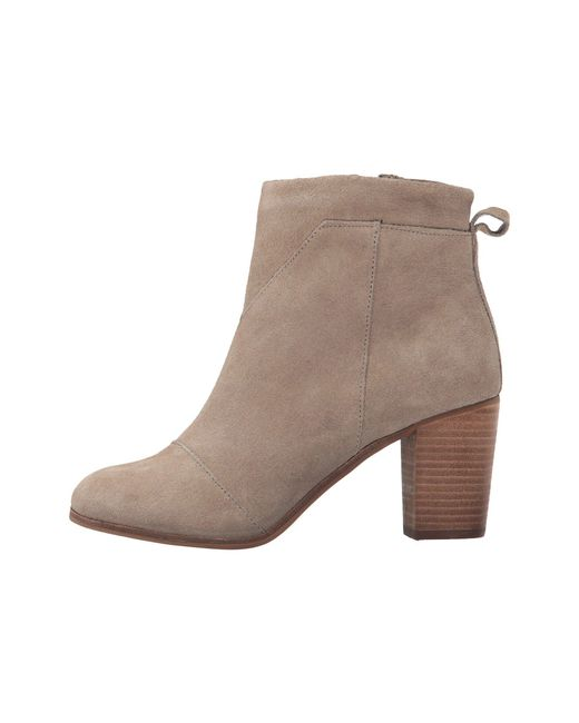 0b843ef749c ... Lyst TOMS - Brown Lunata Bootie (desert Taupe Suede Perforated) Women s  Zip Boots ...