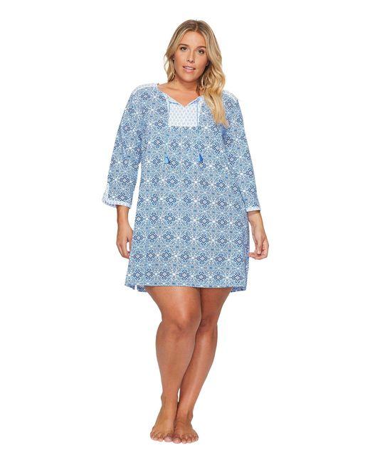 Carole Hochman | Blue Plus Size Jersey Sleepshirt | Lyst