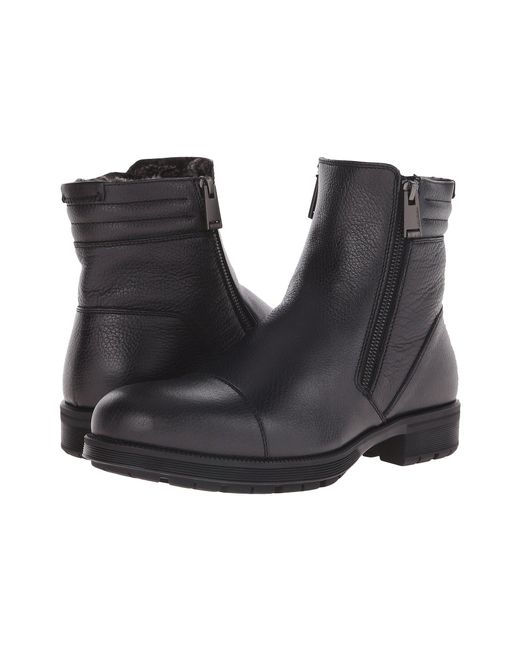 Aquatalia - Black Hugh Shearling-lined Leather Ankle Boots for Men - Lyst