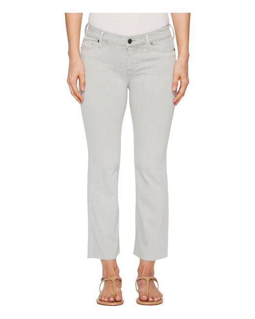 Liverpool Jeans Company - Gray Hannah Crop Flare In Slub Stretch Twill In Fossil - Lyst