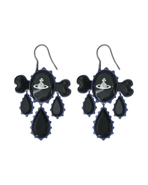 Vivienne Westwood - Black Violet Earrings - Lyst