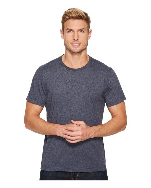 Agave - Blue Sideshore Short Sleeve Crew Neck Neps Jersey for Men - Lyst