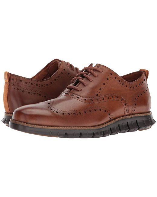 7984ded2f17c2d Cole Haan - Brown Zerogrand Wingtip Oxford Ii (british Tan/dark Roast) Shoes  ...