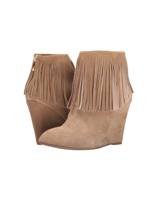 Chinese Laundry - Natural Arctic Fringe Wedge Bootie - Lyst