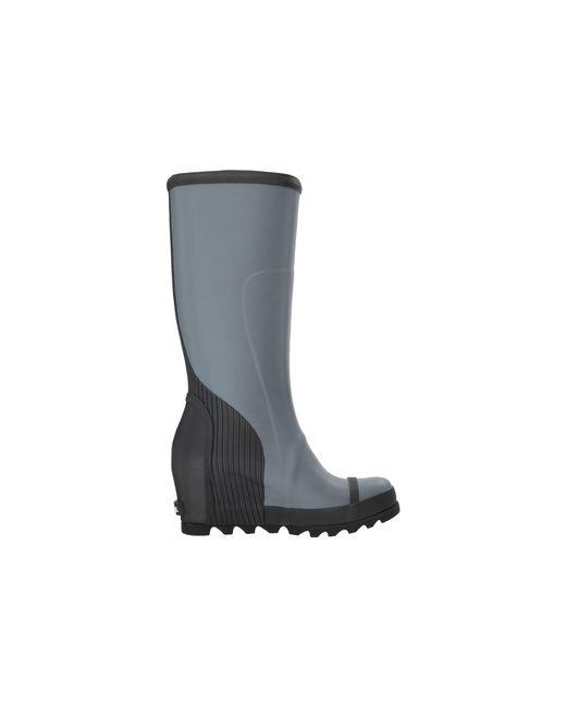 952cbb935730 Lyst - Sorel Joan Rain Wedge Tall Felt in Black - Save 34%