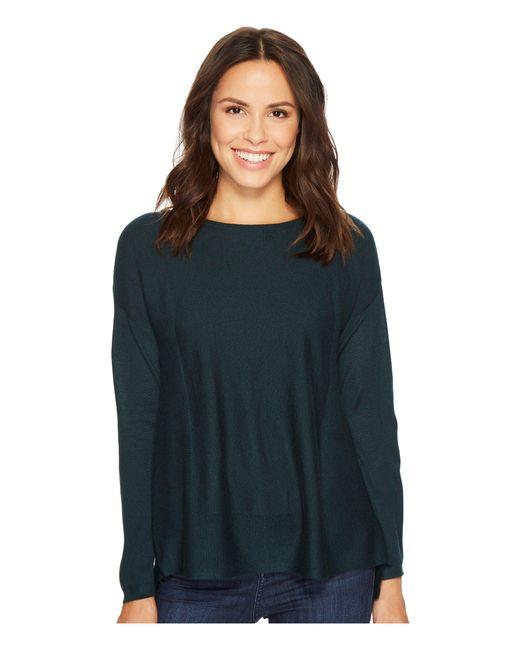 NYDJ - Blue Boat Neck Sweater W/ Split Back - Lyst