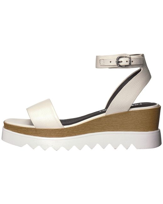 9eaa7f07cf9d Lyst - Sol Sana Tray Wedge Sandal in White - Save 22%