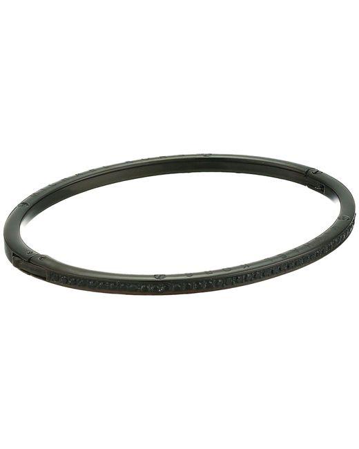 Michael Kors - Black Brilliance Pave Hinged Bangle Bracelet - Lyst