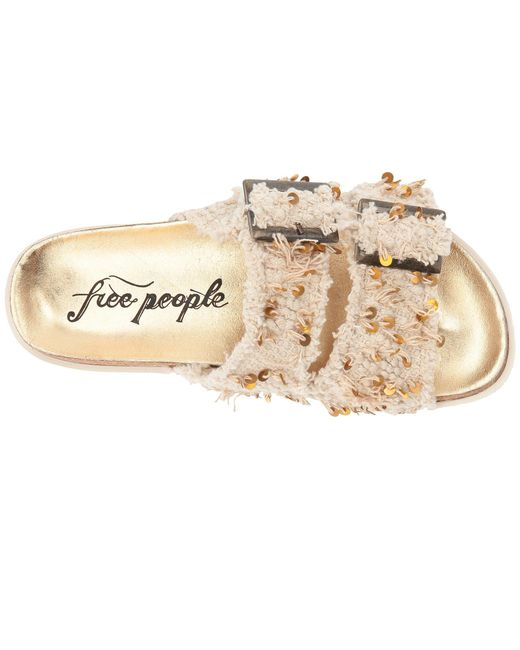d982e3be160 Lyst - Free People Bali Footbed in Natural - Save 65.38461538461539%