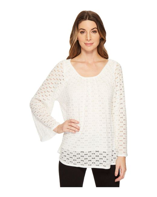 Nally & Millie - Natural Lace Top Set With Tank Layer - Lyst