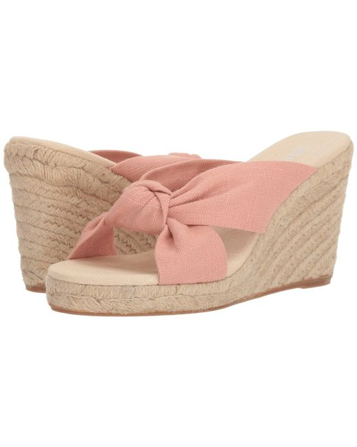 Soludos - Pink Knotted Wedge 90mm - Lyst