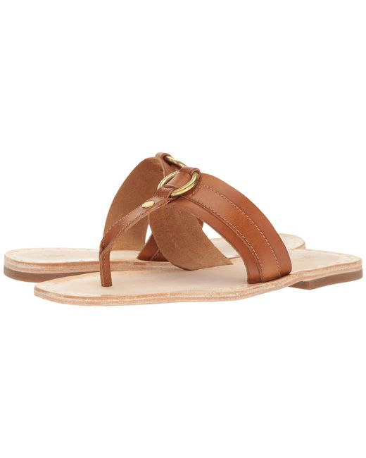 Frye - Brown Avery Harness Thong - Lyst