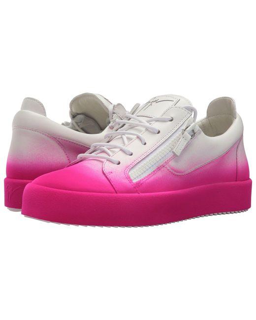 Giuseppe Zanotti - Pink May London Degrade Low Top Sneaker for Men - Lyst