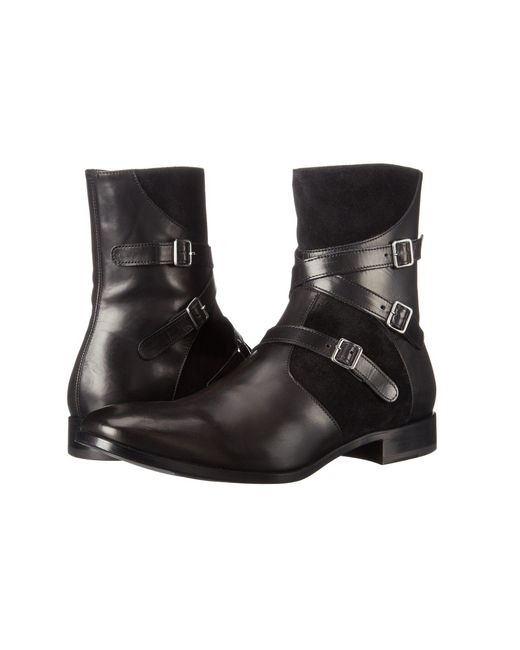 Alexander McQueen | Black Triple Buckle Ankle Boot for Men | Lyst