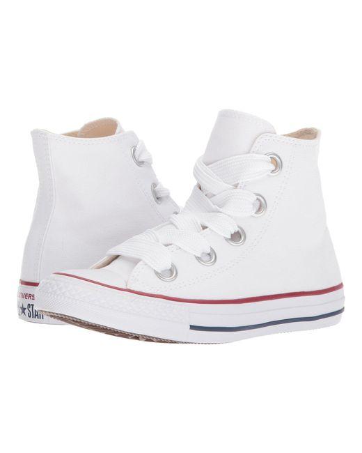Converse - White Chuck Taylor® All Star Canvas Big Eyelets Hi - Lyst