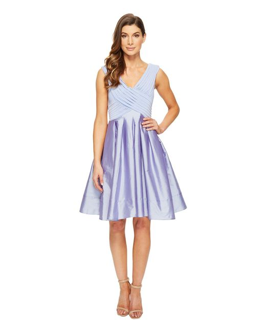 Adrianna Papell - Blue Tafetta Fit And Flare - Lyst