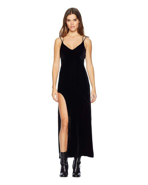 3b7221bcde For Love   Lemons Nadine Velvet Maxi Dress in Black - Save 22% - Lyst