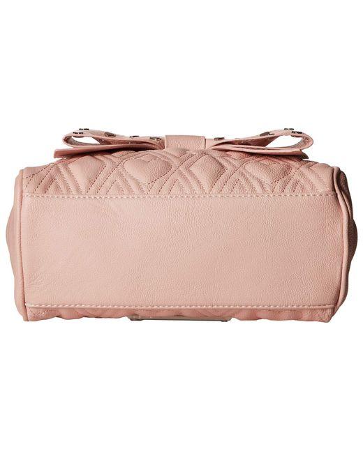 20fd317c24 ... Betsey Johnson - Pink Mini Bow Satchel - Lyst ...