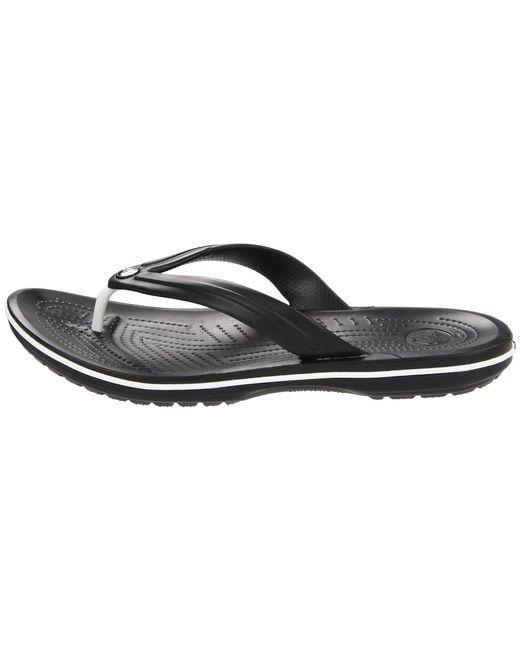 dd455352223fe8 Lyst - Crocs™ Crocband Flip in Black - Save 28%