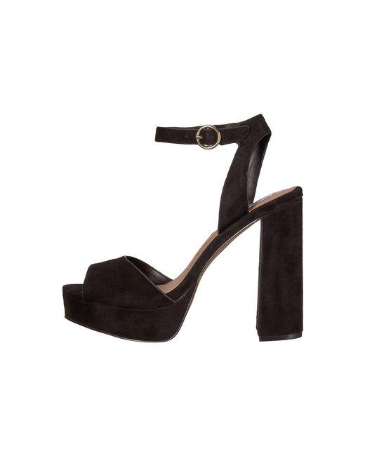 add2aa211194 Lyst - Steve Madden Madeline Platform Sandal in Black - Save 46%