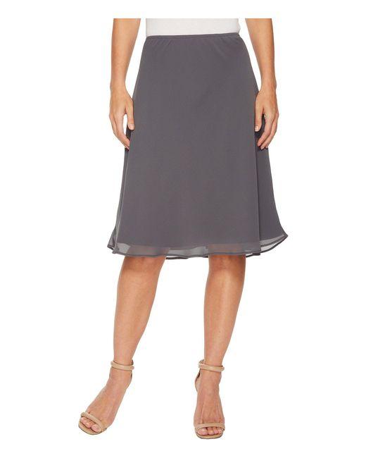 NIC+ZOE - Gray Paired Up Skirt - Lyst
