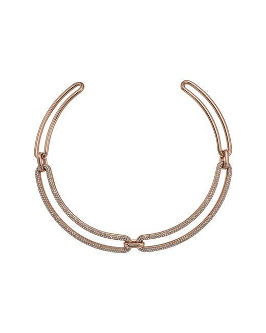 Michael Kors - Metallic Iconic Pave Statement Collar Necklace - Lyst