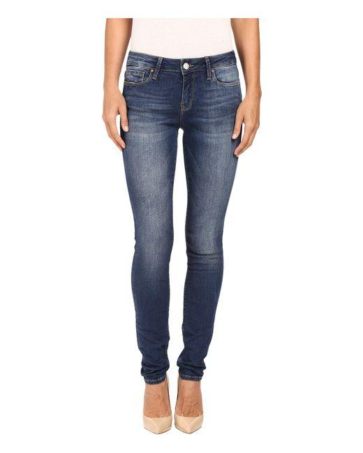 Mavi Jeans - Blue Alexa Mid-rise Skinny In Dark Indigo Tribeca - Lyst