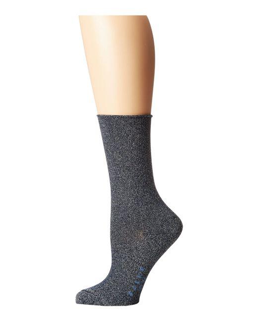 Falke - Blue Shiny Anklet Socks - Lyst