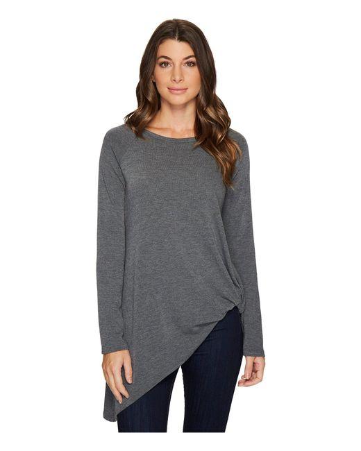 Karen Kane - Gray Asymmetric Pick Up Sweater - Lyst