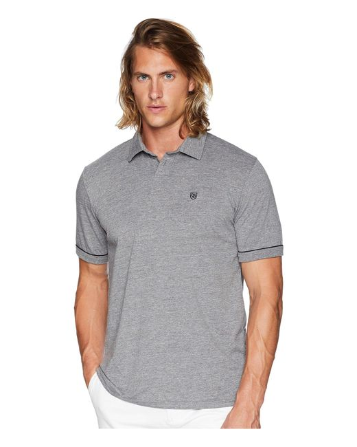 d575a462d9 Lyst - Brixton Carlos Short Sleeve Polo Knit in Gray for Men - Save 56%