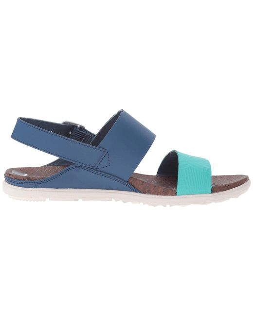 6941ae6a7000 ... Merrell - Blue Around Town Double Banded Color Block Backstrap Print  Sandals - Lyst ...
