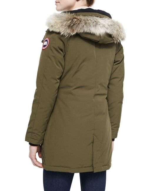 canada goose victoria fur hood parka jacket in black. Black Bedroom Furniture Sets. Home Design Ideas
