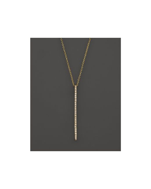KC Designs | Metallic Diamond Stick Pendant Necklace In 14k Yellow Gold, .10 Ct. T.w. | Lyst