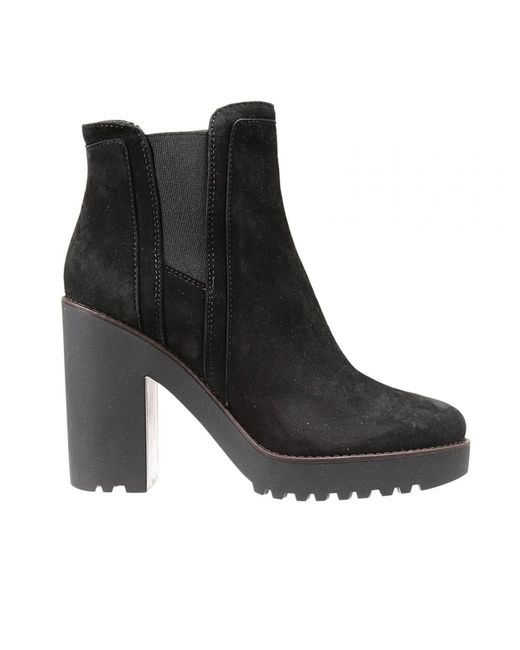 Hogan | Black Suede Platform Ankle Boots | Lyst