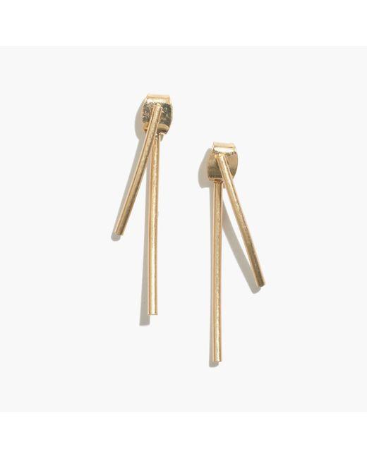 Madewell | Metallic Stembend Earrings | Lyst