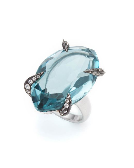 Alexis Bittar | Blue Large Fancy Cut Quartz Sapphire Pave Ring You Might Also Like | Lyst