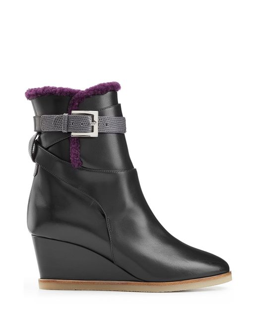 Fendi | Leather Ankle Boots With Shearling Lining - Black | Lyst