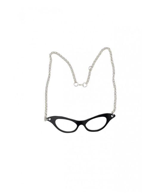 Yazbukey | Black Agatha Christie Glasses Necklace | Lyst