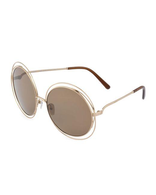 Chloé | Gray Ce114s Sunglasses | Lyst